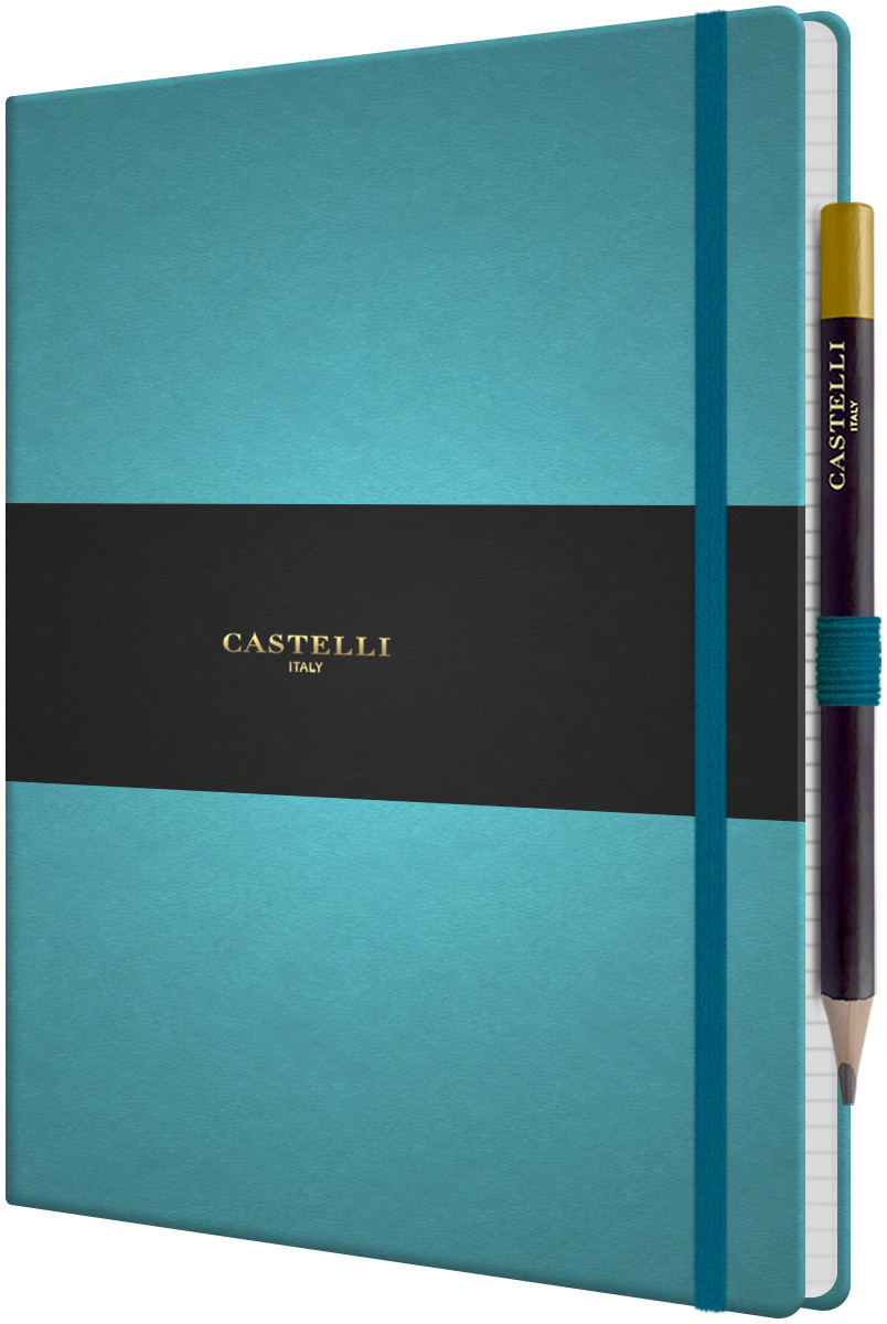 Castelli Tucson Hardback Large Notebook - Ruled - Blue Curacao