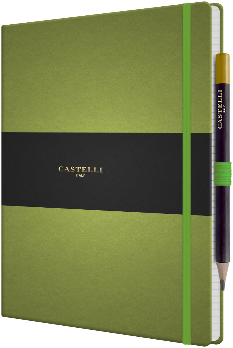 Castelli Tucson Hardback Large Notebook - Ruled - Bright Green