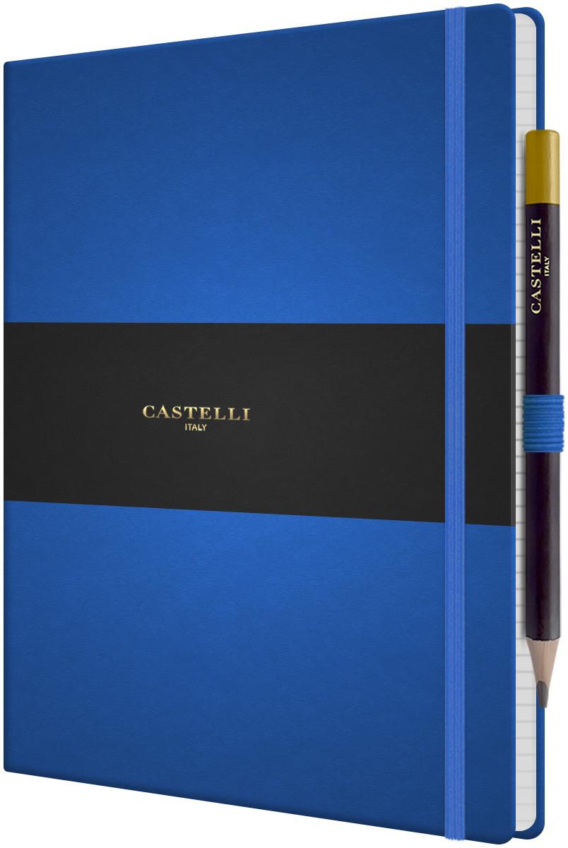 Castelli Tucson Hardback Large Notebook - Ruled - French Blue