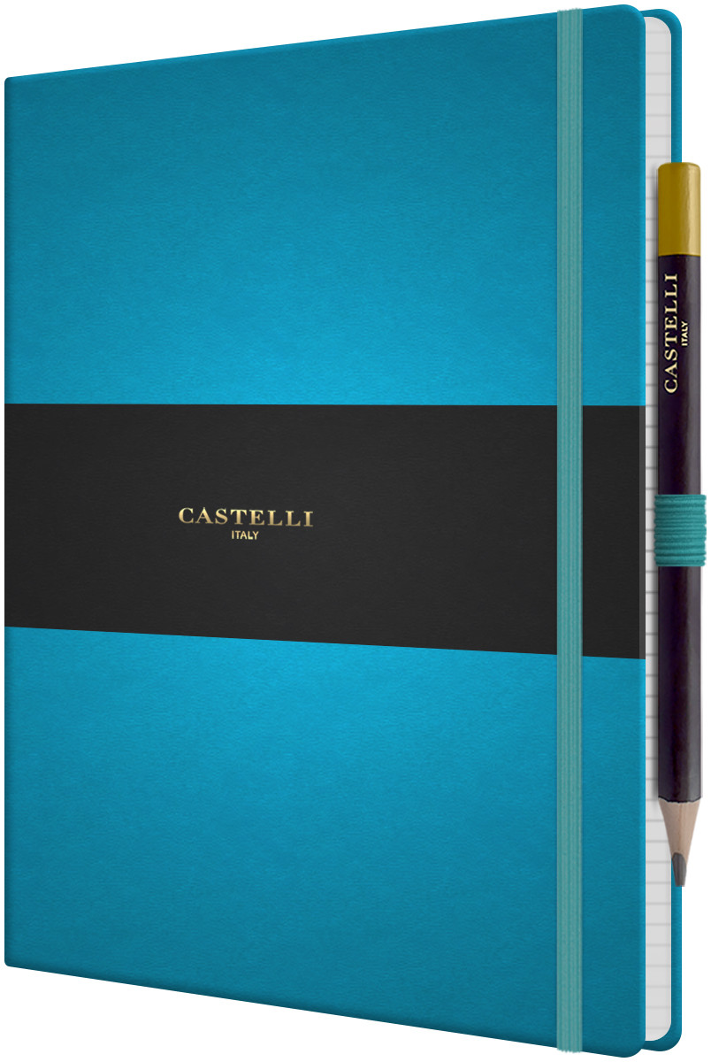 Castelli Tucson Hardback Large Notebook - Ruled - Bright Blue