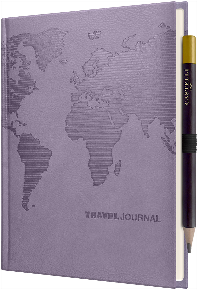 Castelli World Travel Journal - Ruled - Lilac