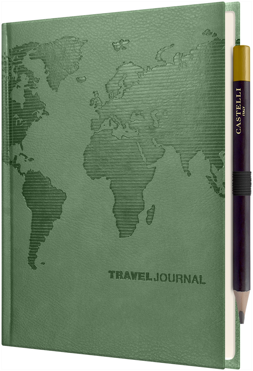 Castelli World Travel Journal - Ruled - Pearl Green