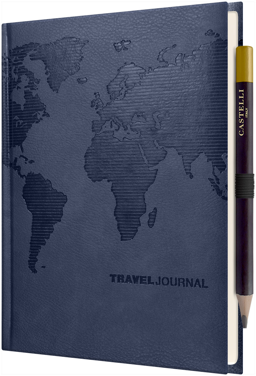 Castelli World Travel Journal - Ruled - Royal Blue