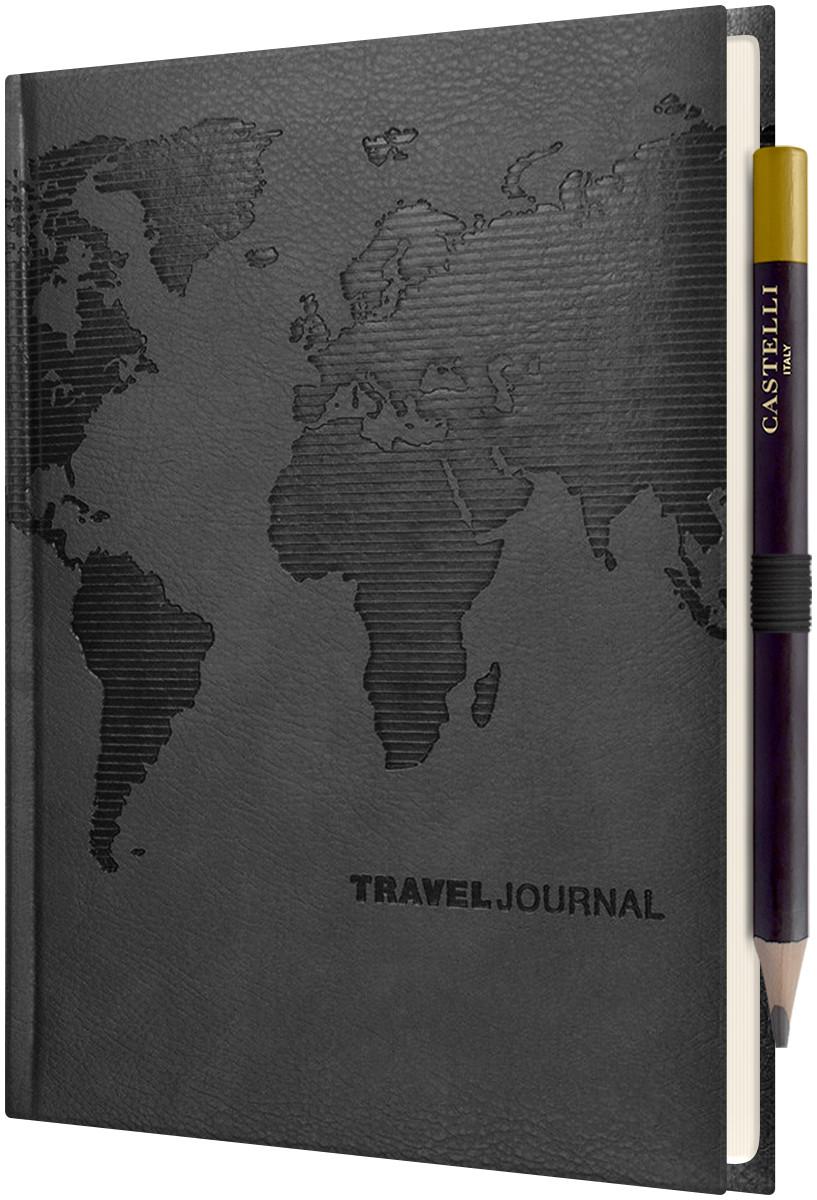 Castelli World Travel Journal - Ruled - Black