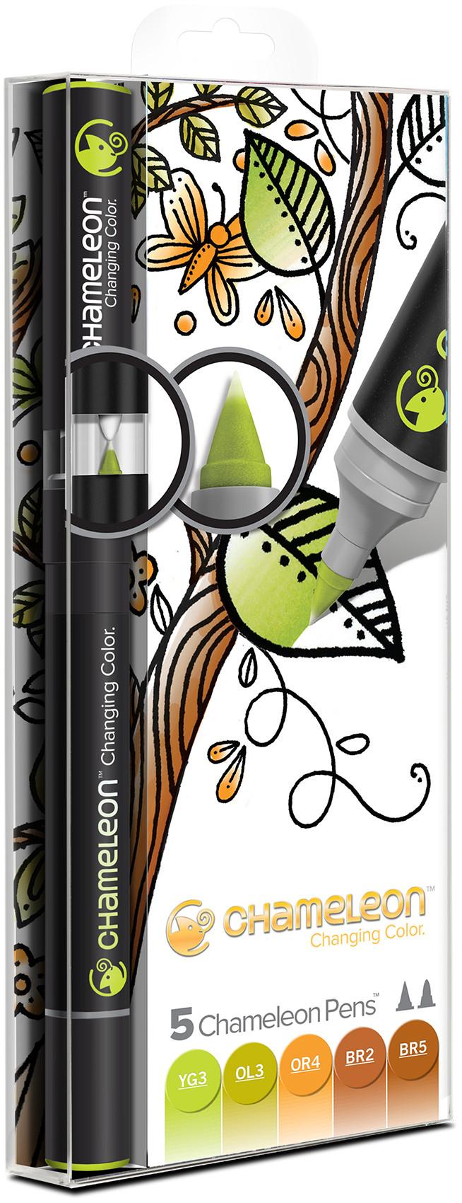 Chameleon Blendable Marker Pens - Earth Tones (Pack of 5)