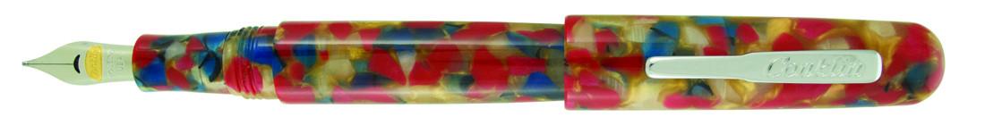Conklin All American Fountain Pen - Old Glory Chrome Trim