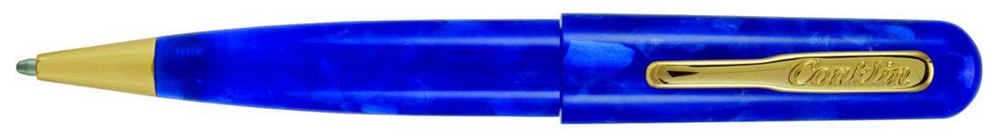 Conklin All American Ballpoint Pen - Lapis Blue Gold Trim