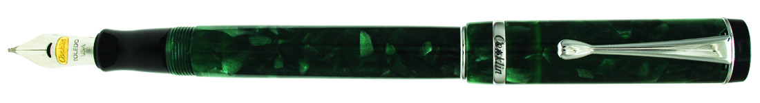 Conklin Duragraph Fountain Pen - Forest Green Chrome Trim