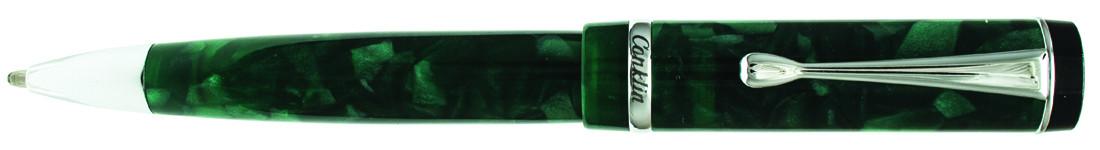 Conklin Duragraph Ballpoint Pen - Forest Green Chrome Trim