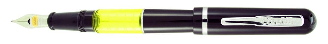 Conklin Heritage World Gauge Fountain Pen - Black Chrome Trim