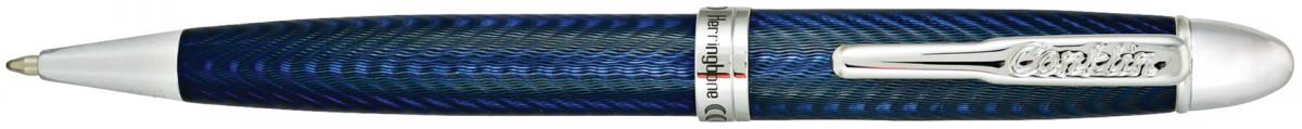 Conklin Herringbone Ballpoint Pen - Navy Blue