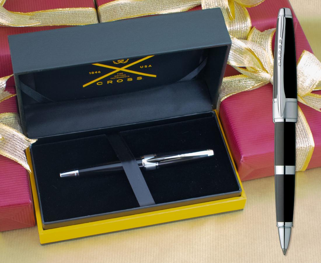 Cross Apogee Rollerball Pen - Black Star Chrome Trim