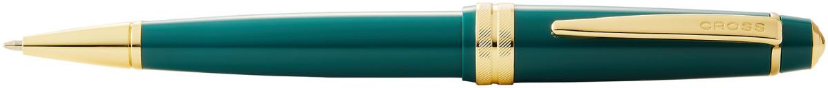 Cross Bailey Light Ballpoint Pen - Green Resin with Gold Plated Trim