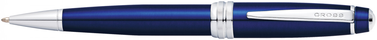 Cross Bailey Ballpoint Pen - Blue Lacquer Chrome Trim