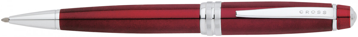 Cross Bailey Ballpoint Pen - Red Lacquer Chrome Trim