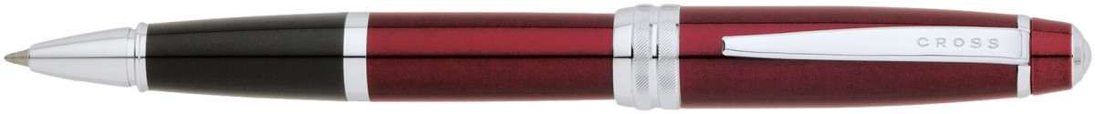 Cross Bailey Rollerball Pen - Red Lacquer Chrome Trim