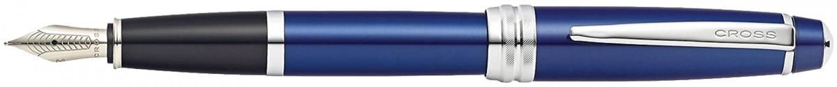 Cross Bailey Fountain Pen - Blue Lacquer Chrome Trim
