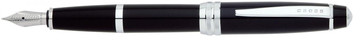 Cross Bailey Fountain Pen - Black Lacquer Chrome Trim