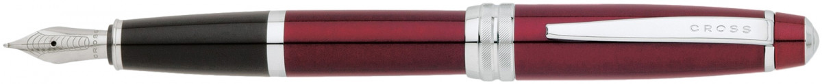 Cross Bailey Fountain Pen - Red Lacquer Chrome Trim