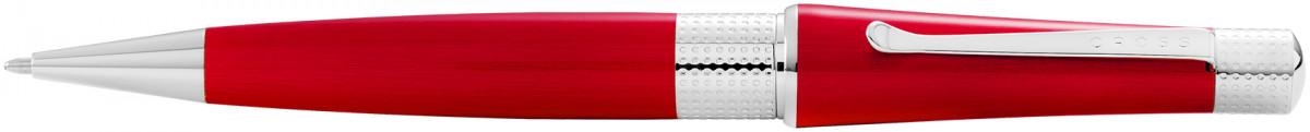 Cross Beverly Ballpoint Pen - Red Lacquer Chrome Trim