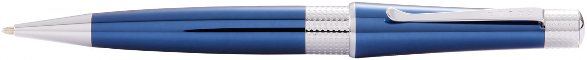 Cross Beverly Ballpoint Pen - Blue Lacquer Chrome Trim