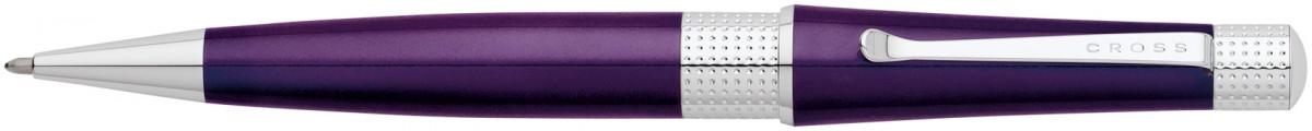 Cross Beverly Ballpoint Pen - Purple Lacquer Chrome Trim