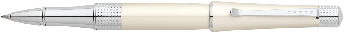 Cross Beverly Rollerball Pen - Pearlescent White Lacquer Chrome Trim