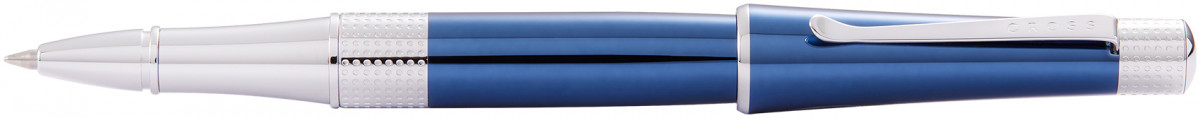 Cross Beverly Rollerball Pen - Blue Lacquer Chrome Trim