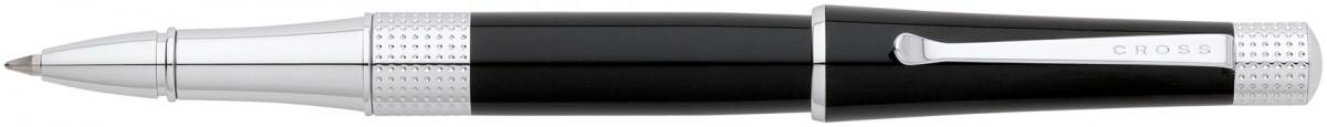Cross Beverly Rollerball Pen - Black Lacquer Chrome Trim