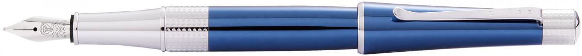 Cross Beverly Fountain Pen - Blue Lacquer Chrome Trim