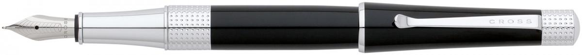 Cross Beverly Fountain Pen - Black Lacquer Chrome Trim
