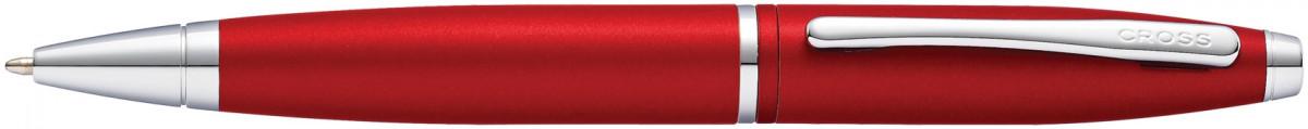 Cross Calais Ballpoint Pen - Metallic Crimson Chrome Trim