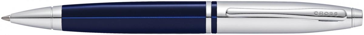 Cross Calais Ballpoint Pen - Translucent Blue Chrome Trim