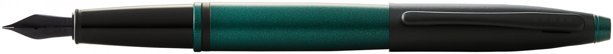 Cross Calais Fountain Pen - Green Lacquer Black Trim