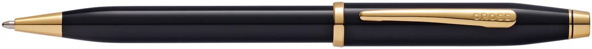 Cross Century II Ballpoint Pen - Black Lacquer Gold Trim