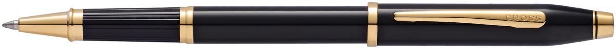 Cross Century II Rollerball Pen - Black Lacquer Gold Trim