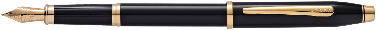 Cross Century II Fountain Pen - Black Lacquer Gold Trim