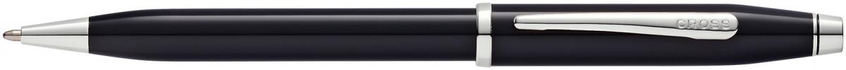 Cross Century II Ballpoint Pen - Black Lacquer Rhodium Trim