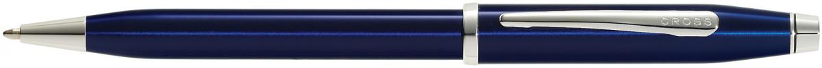 Cross Century II Ballpoint Pen - Translucent Blue Rhodium Trim