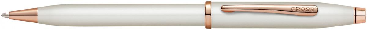 Cross Century II Ballpoint Pen - Pearlescent White Rose Gold Trim