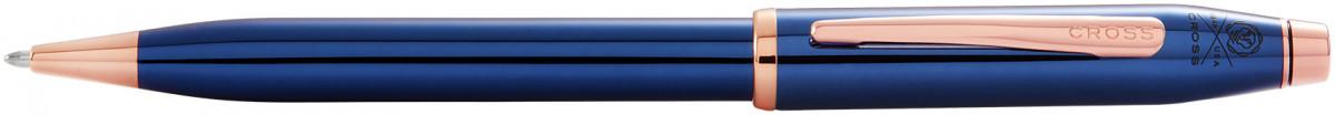Cross Century II Ballpoint Pen - Translucent Blue Rose Gold Trim