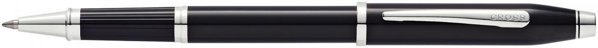 Cross Century II Rollerball Pen - Black Lacquer Rhodium Trim