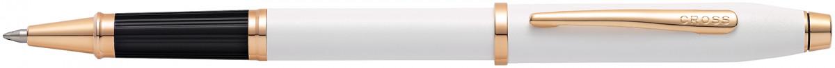 Cross Century II Rollerball Pen - Pearlescent White Rose Gold Trim