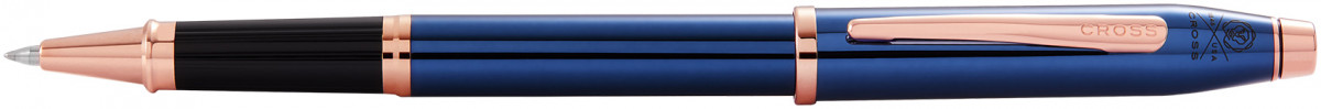 Cross Century II Rollerball Pen - Translucent Blue Rose Gold Trim