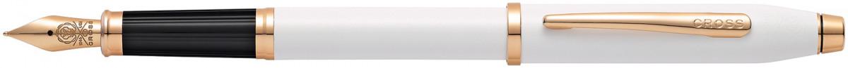 Cross Century II Fountain Pen - Pearlescent White Rose Gold Trim