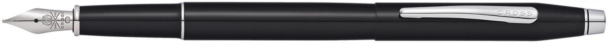 Cross Classic Century Fountain Pen - Black Lacquer Chrome Trim