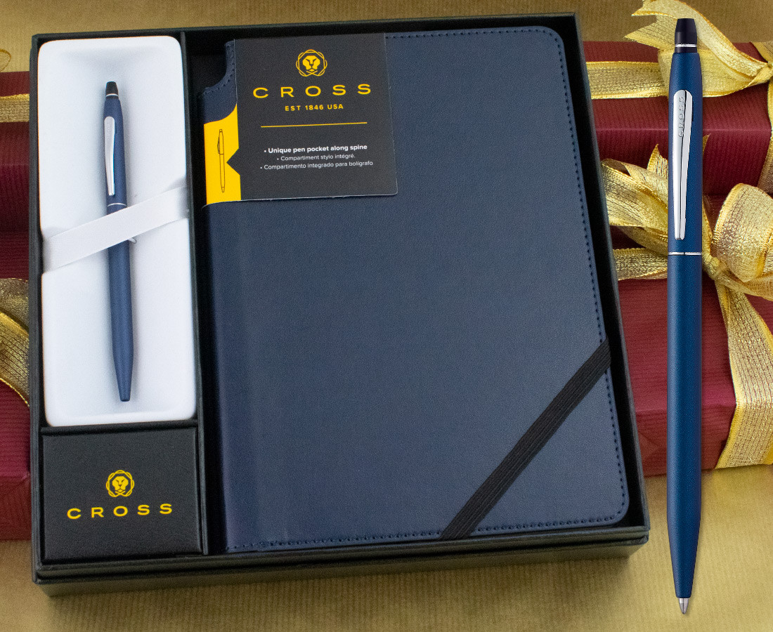 AT0622-121 Cross Click Blue Lacquer Ballpoint Pen in Gift Box
