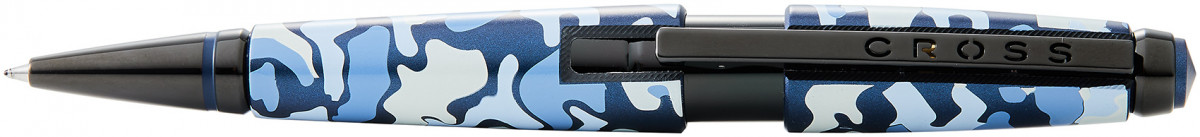 Cross Edge Rollerball Pen - Blue Camo Print PVD Trim