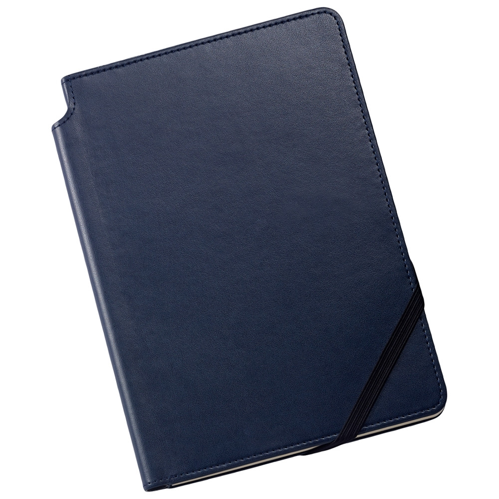 Cross Ruled Leather Journal - Midnight Blue - Medium