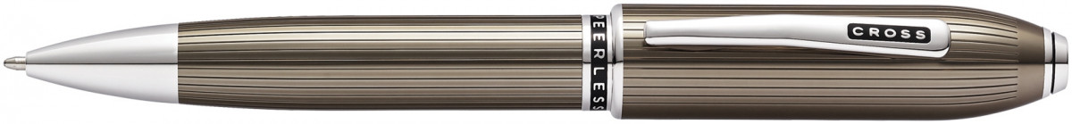 Cross Peerless 125 Ballpoint Pen - Titanium Grey Platinum Trim
